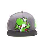 Nintendo - Super Mario Generic Grey Snapback With Yoshi And Egg