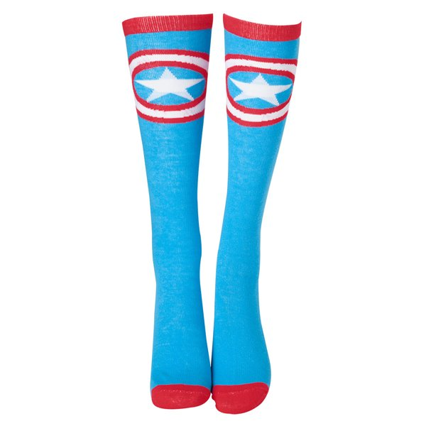 Captain America Civil War -  Shield Logo Knee High Socks