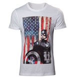 Captain America Civil War - American Flag T-shirt
