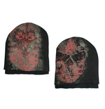 Alchemy - Double Layers Skull Beanie W/ Stone