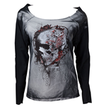 Alchemy - Faded Flower Skull Sweatshirt