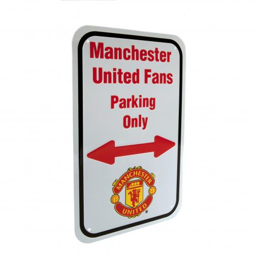 Manchester United F.C. No Parking Sign