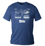 Back to the Future T-Shirt DeLorean Blueprint