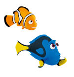 Finding Dory Gift Box with 2 Figures Dory & Nemo 6 cm