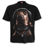 Dawg - Front Print T-Shirt Black