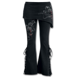 Fatal Attraction - 2in1 Boot-Cut Leggings with Micro Slant Skirt