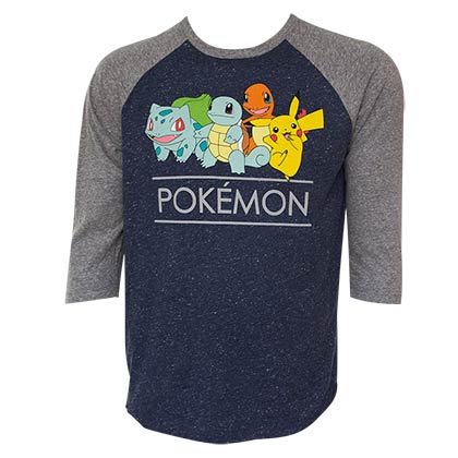 POKEMON Squad Raglan Sleeve Tee Shirt