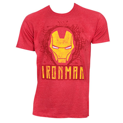 IRON MAN Face Logo Red Tshirt