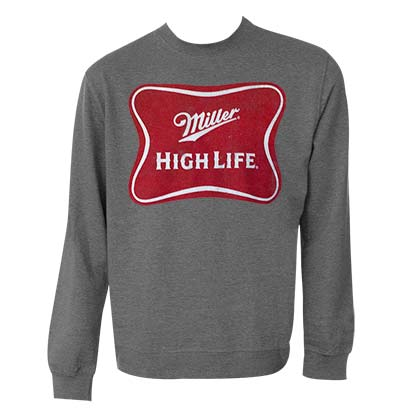 MILLER High Life Logo Grey Crewneck Sweatshirt
