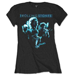 The Rolling Stones Ladies Tee: Band Glow