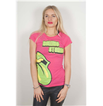 The Rolling Stones Ladies Tee: Green Tongue
