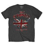 The Rolling Stones Men's Tee: Union Jack US Map