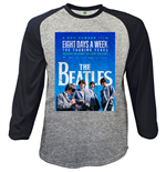 The Beatles Mens Raglan Tee: 8 Days a Week Movie Poster