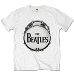 The Beatles Men's Tee: Original Drum Skin