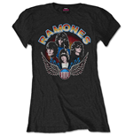 Ramones Ladies Tee: Vintage Wings Photo