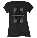 Marilyn Manson Ladies Tee: Mirrored