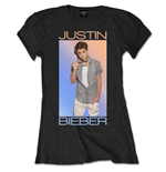 Justin Bieber Ladies Tee: Colour Fade