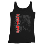 Iron Maiden Men's Vest Tee: Hi-Contrast Trooper