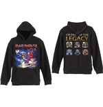 Iron Maiden Mens Hooded Top: Legacy Beast Fight