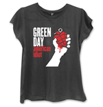 Green Day Ladies Fashion Tee: American Idiot