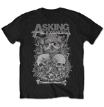 Asking Alexandria Men's Tee: Skull Stack