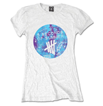 5 Seconds of Summer Ladies Tee: Scribble Logo