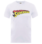 DC Comics Men's Tee: Originals Superman Telescopic Crackle Logo