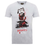 DC Comics Men's Tee: Batman Arkham City Harley Quinn Somebody Loves Me