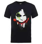 DC Comics Men's Tee: Batman Arkham City Halloween Joker Face