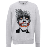 DC Comics Men's Sweatshirt: Batman Joker Face of Bats