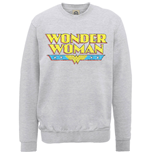 DC Comics Men's Sweatshirt: Wonder Woman Logo Crackle
