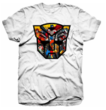 Hasbro Men's Tee: Transformers Autobot Shield Montage