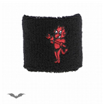 Black wristband with cute red devil.