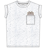 Pusheen Ladies T-Shirt Pocket Pusheen