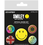 Smiley Pin Badge Pack - Classic