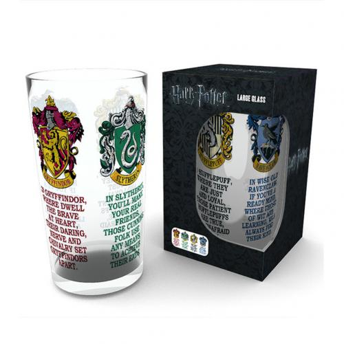 Harry Potter Large Glass House Crests