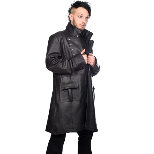 Mode Wichtig Mens Military Coat Nappa Leather