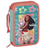 Vaiana pencil case double filled
