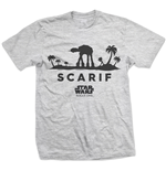 Star Wars Men's Tee: Rogue One At-At Silhouette Scarif