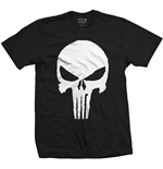Marvel Comics Men's Tee: Punisher Jagged Skull