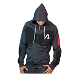 TITANFALL 2 Pilot Sport Cut Full Length Zipper Hoodie, Medium, Dark Grey