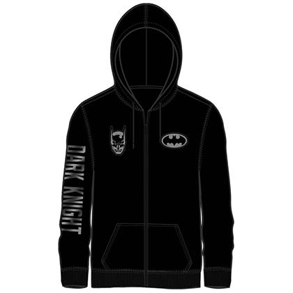 BATMAN Zip Up Dark Knight Sleeve Print Hoodie