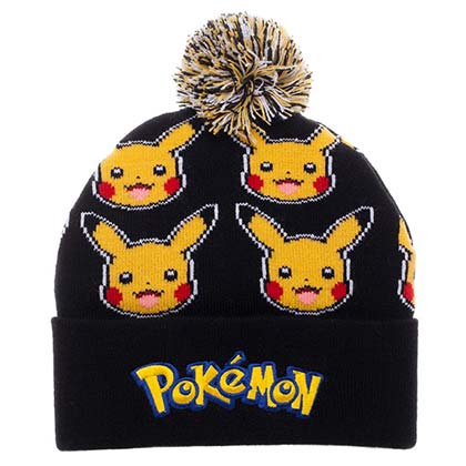 POKEMON Pikachu Pom-Pom Winter Hat Beanie