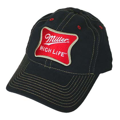 MILLER High Life Adjustable Velcro Black Hat