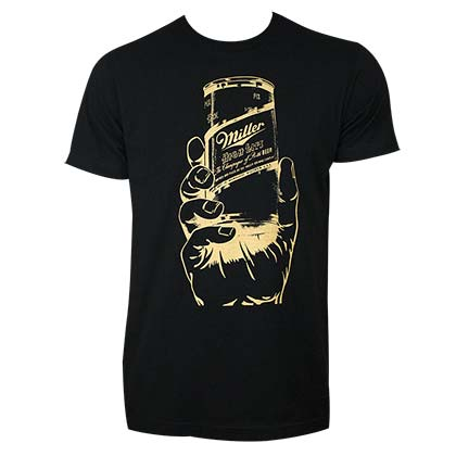 MILLER High Life Can in a Hand Shirt