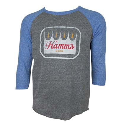 HAMM'S Blue and Grey 3/4th Sleeve Shirt