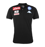2016-2017 Napoli Cotton Polo Shirt (Black) - Kids