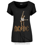 AC/DC Ladies Fashion Tee: Angus Statue