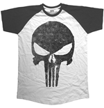 Marvel Comics Men's Raglan Tee: Jagged Skull