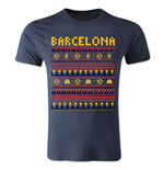 Barcelona Christmas T-Shirt (Navy)